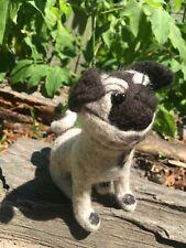 Felted dog Pug Needle felted wool Handmade gifts