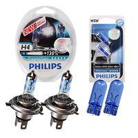 SET Philips X-treme Vision +130% 2x H4 White Vision Xenon Ultimate W5W
