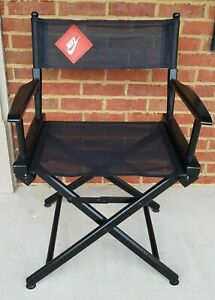 Rare Vintage NIKE SWOOSH Black Advertising Director's Chair. RETRO collectible!