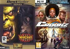 Warcraft III reign of chaos & crookz  the big heist limited edition  new&sealed