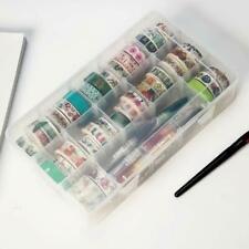 New listing Transparent Washi Tape Box Stationary Storage Box School Supplies ~ Station S2M4