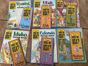Highlights Which Way USA 6 maps and 6 puzzle books- Rocky Mountain States