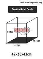 Acrylic Figure Display Case Box 42x36x42cm Dust Protection ADS03