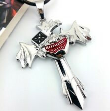 Tokyo Ghoul Ken Kaneki Mask Silver Cross Wing Pendant Necklace Anime Cosplay