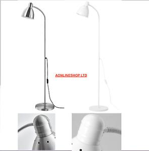 IKEA Lersta Brushed Aluminium Adjustable Silver or white Floor Lamp