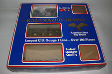 KALAMAZOO TRAINS G SCALE CENTRAL PACIFIC TRACK LAYERS TRAINSET, BOXED