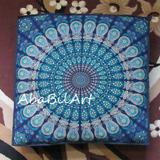 "35"" Large Mandala Cotton Square Pet Dog Bed Cover Floor Cushion Pillow Cover Art"