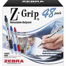 ZEBRA PEN CORP. Z-Grip Retractable Ballpoint Pen, Assorted Ink, Medium, 48/Pack