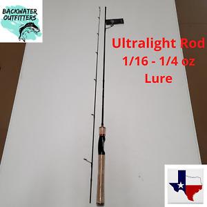 "Ultralight 2pc Spinning Rod 5'11"" Lure 1/16 - 1/4oz Line 2-8lb Test Carbon Fiber"