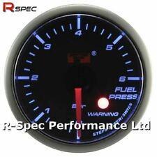 52mm Blue Stepper Motor Warning Fuel Pressure Press Gauge Bar - With Warning