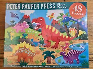 Dinosaur Jigsaw Puzzle 48 Piece Kids Activity Game Toy Lake Tree Animal Volcano