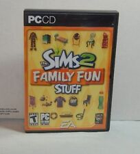 The SIMS 2 Family Fun Stuff PC CD GAME Expansion Pack COMPLETE with KEY CODE