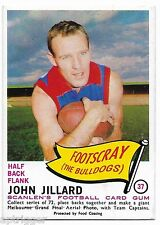 1966 Scanlens (37) John JILLARD Footscray  { Mint }