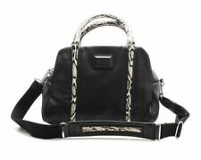 Marc By Marc Jacobs Black Pebbled Leather Classic Q Snake Trim Satchel