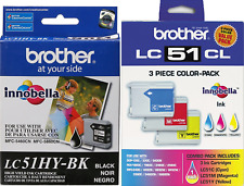 New Genuine Brother LC51 4PK Ink Cartridges MFC-240C Intellifax 1860C DCP-350C