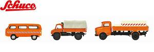 Schuco H0 452655600 MHI Set Kommunalfahrzeuge 3-teilig 1:87 - NEU + OVP