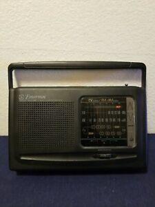 Emersom AR2471 3-Band Weather/TV/AM/FM Portable Radio Battery/Wall Plug Tested