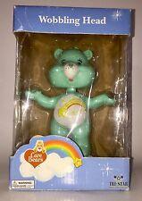 Wish Bear Bobble Head - Green Care Bear Figurine Wobbling Head - FAST SHIPPING!