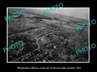 OLD POSTCARD SIZE PHOTO MURPHYSBORO ILLINOIS, AERIAL VIEW OF THE TOWN c1925
