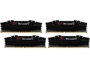 G.SKILL 64GB (4x16GB) Ripjaws V Series DDR4 3200MHz DIMM F4-3200C16Q-64GVK