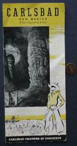 1940-50s Era Carlsbad Caverns New Mexico Caves & Cowboys brochure-Old Route 66!