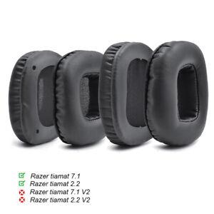 Replacement Cushion Ear Pads For Razer Tiamat 7.1 / Tiamat 2.2 Surround headset