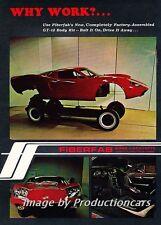 1969 Fiberfab Avenger GT-12 Works - Original Advertisement Print Art Car Ad J698