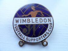 Wimbledon Football Supporters Club Enamel Badge
