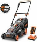 TACKLIFE Cordless Lawn Mower, 16-Inch 40V Brushless Lawn Mower, 4.0AH Battery, 6