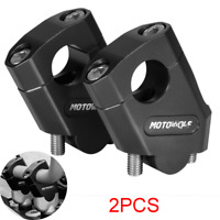 "2pcs CNC Motorcycle 7/8"" 22mm Handlebar Riser Mount Clamp Adapter Height up 38mm"
