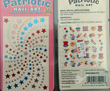 10 PACKS OF FING'RS PATRIOTIC NAIL ART DECALS