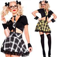 Sexy Women High School Girl Costume Fancy Dress Outfit Halloween Cosplay J0U6