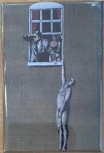 Banksy Well Hung Lover Fridge Magnet