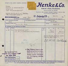 LEIPZIG S 3, 3x Rechnung 1947/1961, Fabrik chem. Produkte Henke & Co.
