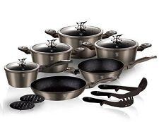 Luxury Pots High-quality Forged aluminium Cookware Set 15 pcs frypan utensils