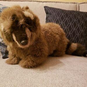 "Vintage Gund Plush Raccoon Mischief Stuffed Animal 1988 - 27"" Long"