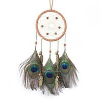 Feather Bell Dream Catcher Handmade Wall Hanging Home Car Decor Bead Ornament