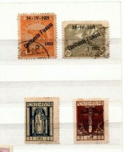 4 very nice Fiume issues with some overprints