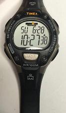 Timex Ironman Triathlon wr100m CR2025 Chronograph indiglo Digital Watch Face