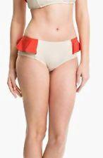 Marc Jacobs XL Color Block Peplum Swimwear Bikini Bottom, Tan, Orange