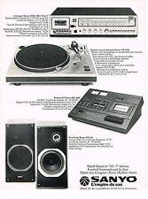 PUBLICITE  1978   SANYO   ampli enceintes hi-fi platine