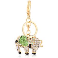 Ciondolo Per Fibbia Borsa Accessori Verde Cuore Elefante Portachiavi HK112