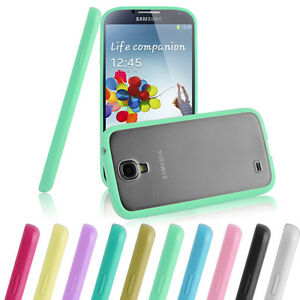 TPU BUMPER WITH HARD BACK CASE COVER FOR SAMSUNG GALAXY S4+FREE SCREEN PROTECTOR