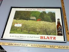 Blatz beer sign vintage brewery Spring in Blossom series picture vintage OP8