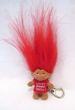 Lucky Bingo Troll Key Chain Bingo Bag Clip Mini Charm Doll By Dam Red New