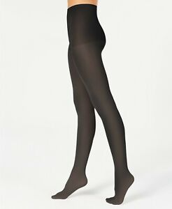 Hanes X Temp Opaque Tights Comfort Top & Waistband Size Tall Black $10 NWT