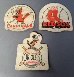 MLB Vintage Baseball Patches Prizes - Cardinals, Red Sox, Orioles Lot