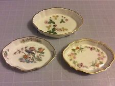 ROYAL DOULTON PIN DISHES WILD STRAWBERRY KUTANI CRANE & MIRABELLE PATTERNS x.  3
