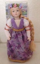 Rapunzel Avon Fairy Tale Doll Collection Porcelain EX CONDITION