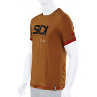 SIDI CASUALS T-SHIRT SINCE 60 BURNT SIENNA motorcycle track wear